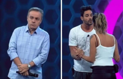 """Briga de casal no """"Power Couple Brasil"""" sobra até para Gugu Liberato"""
