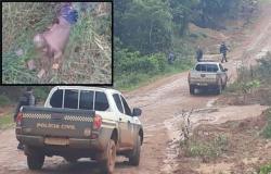 Homem é encontrado morto com marca de tiro e de pedradas