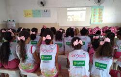 Programas da PJC promovem atividades preventivas com crianças dos projetos Siminina e Chuteirinha de Ouro