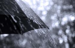 Moradores registram chuva em Chapada dos Guimarães