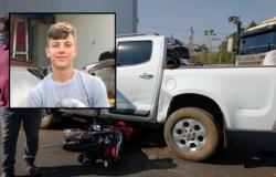 Jovem morre após bater moto em caminhonete na BR-070