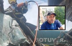 Identificado motorista que morreu com colisão entre caminhões na BR-163