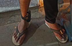 Homem monitorado por tornozeleira aplica golpe e é detido pela Rotam