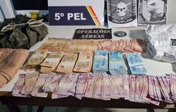 Policiais localizam em mata outra parte do dinheiro roubado de cooperativas no Nortão