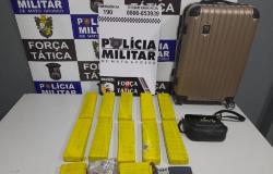 PM prende mulher com 10 quilos de maconha em Rondonópolis