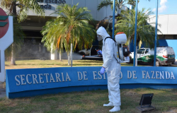 Agência Fazendária de Cuiabá passa por desinfecção nesta quinta-feira (12.08)