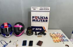 PM prende motociclista armado após condutor invadir o pátio do 4º Batalhão