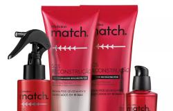 Nova linha de Match repara cabelos danificados em 15 dias
