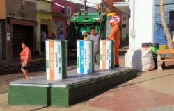 Lixeiras subterrâneas foram entregues pela Prefeitura de Cuiabá