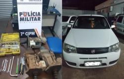 PM prende em flagrante quadrilha especializada em furto de peças de caminhão