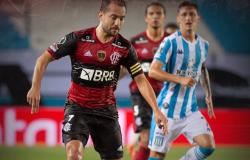 FLAMENGO SOFRE, MAS SEGURA EMPATE COM O RACING NA ARGENTINA