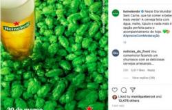 """Heineken adere à campanha de dia sem carne e é """"cancelada"""" pela galera do churras"""