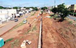 Obra na Av. Dante Martins de Oliveira entra na etapa de construção de rede de drenagem e muro de gabião