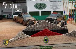 Motociclistas trocam tiros com a polícia na fronteira de MT com a Bolívia e um é preso com 360 kg de drogas