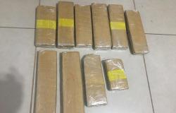 Polícia Civil apreende mala com 10 tabletes de maconha dentro de ônibus