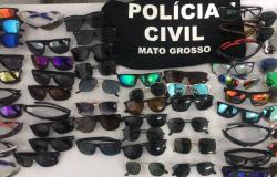 Primeira operação de combate a pirataria do ano apreende 154 réplicas de óculos na Capita