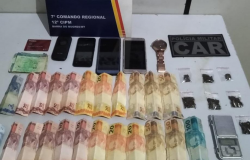 PM prende casal comercializando droga via delivery em Barra do Bugres