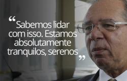 Apesar de turbulência no mercado; Guedes afirma estar 'tranquilo'