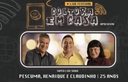 Pescuma, Henrique e Claudinho se apresentam em live nesta quarta-feira (22)