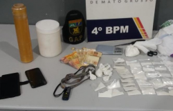 Colombiano e esposa são detidos com porções de cocaína em bairro de Várzea Grande