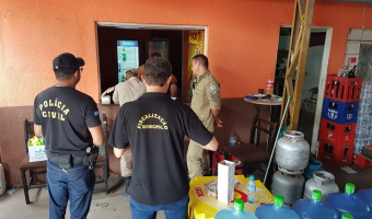 Polícia Civil realiza fiscalização para reprimir a venda clandestina de gás GLP