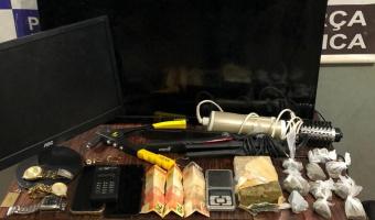 Casal é detido com droga e produtos sem procedência em bairro de Rondonópolis
