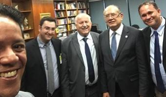 Gilmar Mendes recebe prefeito de Nobres e assegura apoio para regularização fundiária