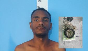 Homem é preso após roubar fio elétrico em escola