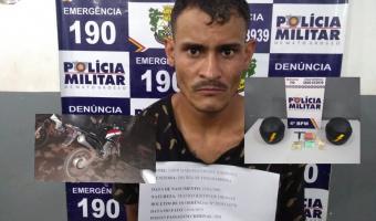 Suspeito por  furtos de motos é preso com maconha