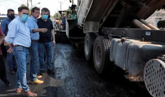 Governador fiscaliza andamento das obras de restauração da MT-246 já em fase final