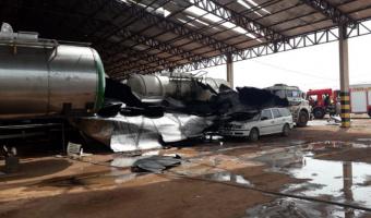 Duas pessoas morrem na explosão de caminhão tanque em Mato Grosso