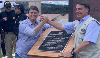 Bolsonaro inaugura pavimentação de rodovia no Pará
