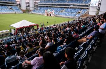 Formatura do Proerd reúne alunos, pais e militares na Arena Pantanal