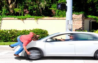 Atropelamento causado por motorista de Jaguar