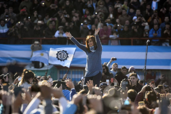 Cristina Kirchner, em 20 de junho. AFP