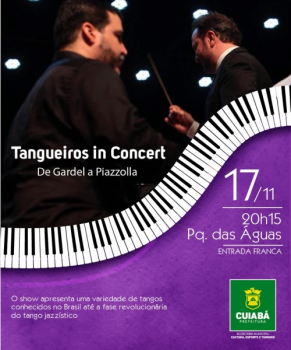 """Parque Das Águas recebe """"Tangueiros In Concert"""" em show gratuito de tango"""
