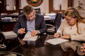 Reunião do governador Mauro Mendes com cúpula da Seduc - Foto por: Christiano Antonucci
