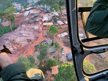 Operação Trype é realizada em garimpo ilegal em Aripuanã - Foto por: Cioaper