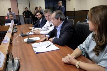 O Governo de Mato Grosso, o Ministério Público Federal em MT e o Instituto Mato-grossense da Carne (Imac) assinam um termo de cooperação técnica - Foto por: Mayke Toscano/Secom-MT