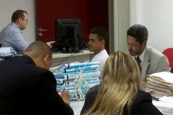 Sandro Louco em audiência                                                         Foto: Hipernotícias