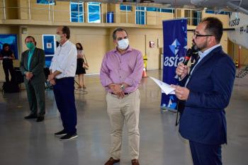 Secretário de Desenvolvimento Econômico, César Miranda, em evento no hangar da Asta Linhas Aéreas - Foto por: Michel Alvim/Secom MT