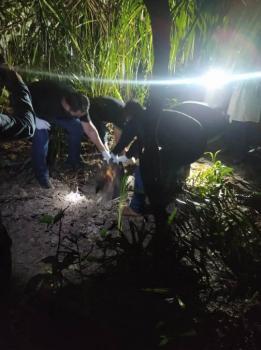 O adolescente foi enterrado em área de zona rural, cerca de 20 km de distância da cidade, saída da bica d>água, sentido Nova Mutum         Foto: PJC/MT