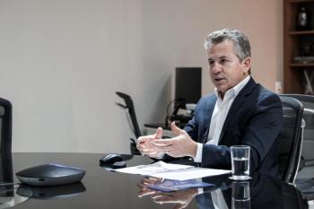 O governador Mauro Mendes, durante a live - Foto por: Tchélo Figueiredo - SECOM/MT