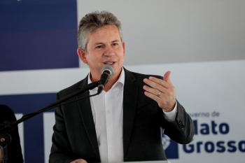 O governador Mauro Mendes, que fez a aquisição da vacina russa - Foto por: Foto: Mayke Toscano/Secom-MT