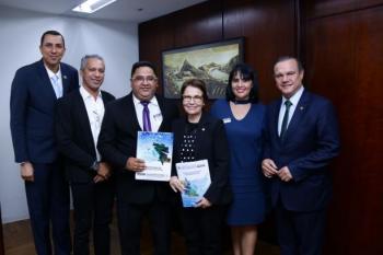 Secretaria de Pesca e Aquicultura e Consórcio são recebidos pela ministra da Agricultura
