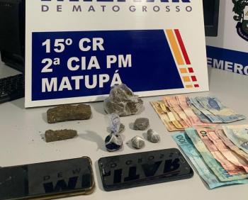 PM prende 5 e apreende 3 adolescentes por tráfico e uso de drogas