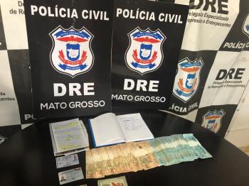 Traficante foragido da Justiça é preso em Cuiabá com documentos falsos, dinheiro e anotações do tráfico