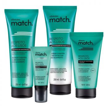 Match para cabelos lisos e alisados