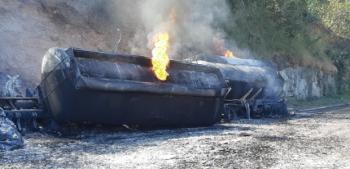 Carreta carregada com 43 mil litros de combustível explode