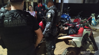 Ação integrada apreende 10 veículos em São José do Rio Claro